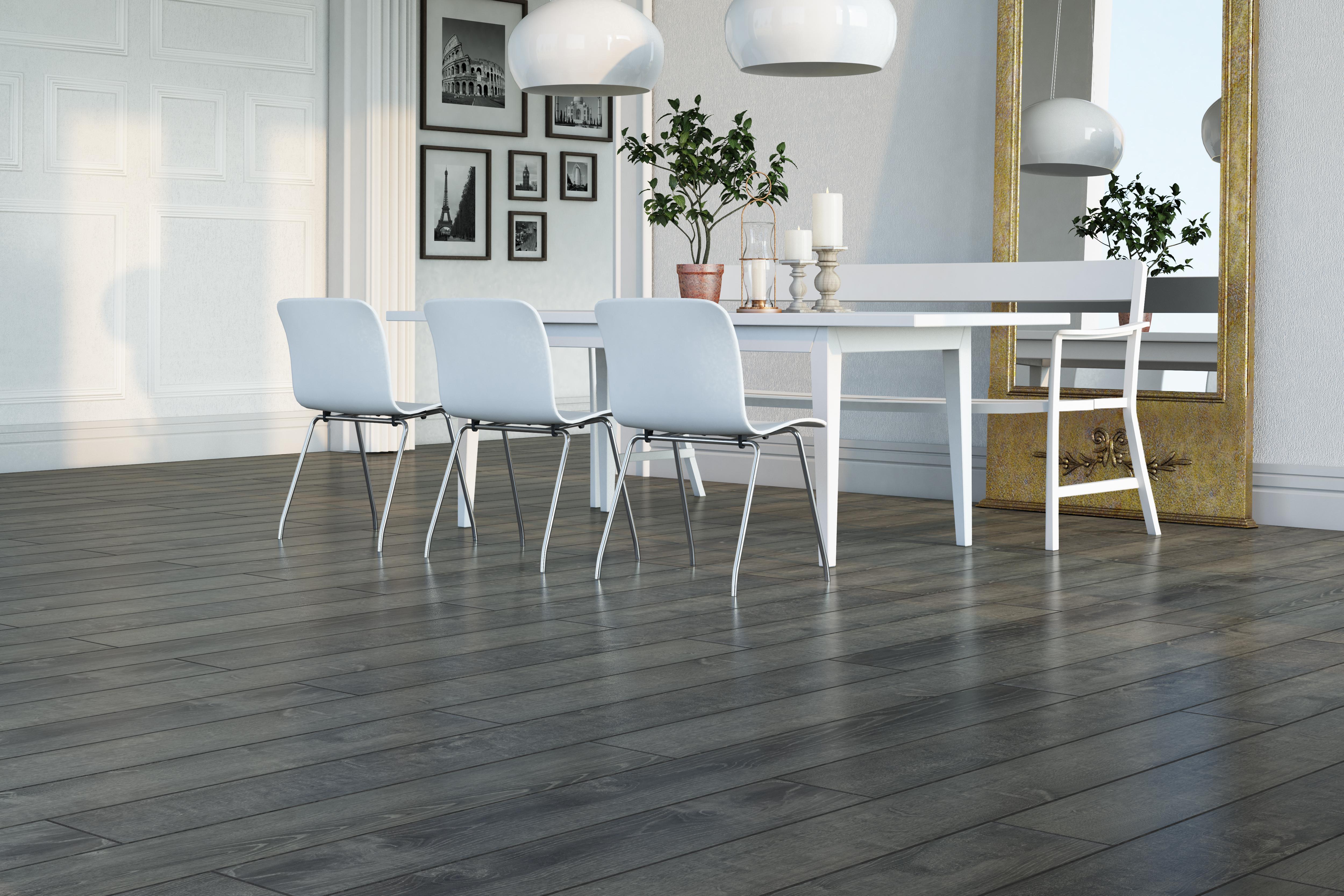 Piso flotante deluxe biselado 8 3mm casa belforte for Decoracion piso laminado gris